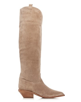 Sigerson Morrison - Women's Tyra Suede Western Pointed Toe Boots
