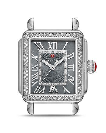 MICHELE - Deco Madison Watch Head, 33mm x 35mm