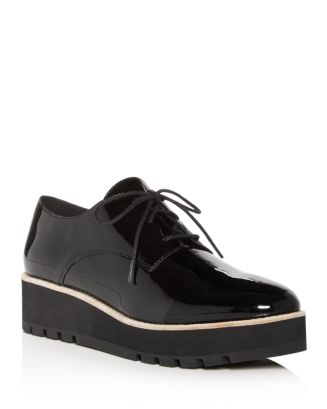 Women's Eddy Patent Leather Plain Toe Platform Loafers by Eileen Fisher