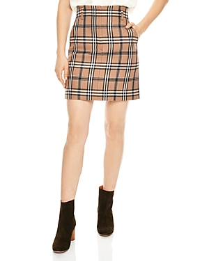 Sandro Sunset Plaid A-line Skirt