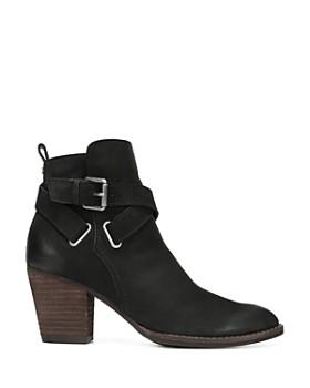 Sam Edelman - Women's Morris Almond Toe Leather Mid-Heel Booties