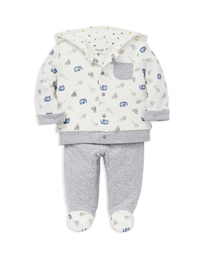 Little Me Boys AnimalPrint Take Me Home Hoodie  Footie Pants Set  Baby