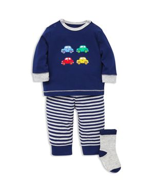 Little Me Boys' Car Tee & Jogger Pants Set with Socks - Baby