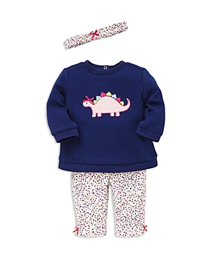 Little Me Girls' Dino Sweatshirt, Leggings & Headband Set - Baby