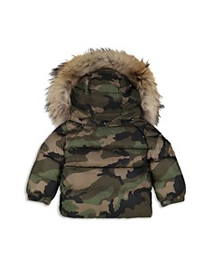 SAM. - Boys' Camo-Print Fur-Trimmed Mountain Down Jacket - Little Kid
