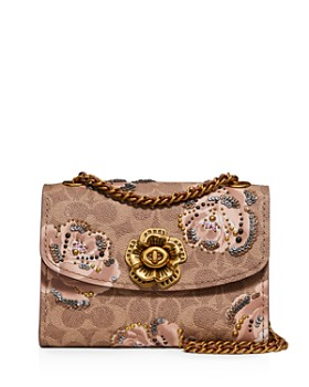 COACH - Parker Small Floral Print Coated Canvas Convertible Shoulder Bag