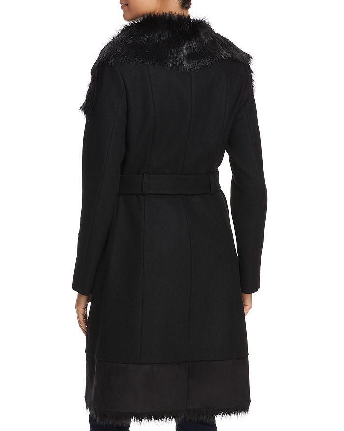 0fbd95d6515 VINCE CAMUTO - Faux Fur Trim Belted Wrap Coat