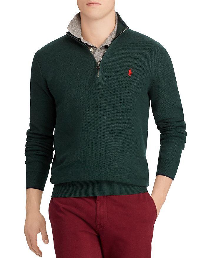 Polo Ralph Lauren Half-zip Sweater In Navy Heather