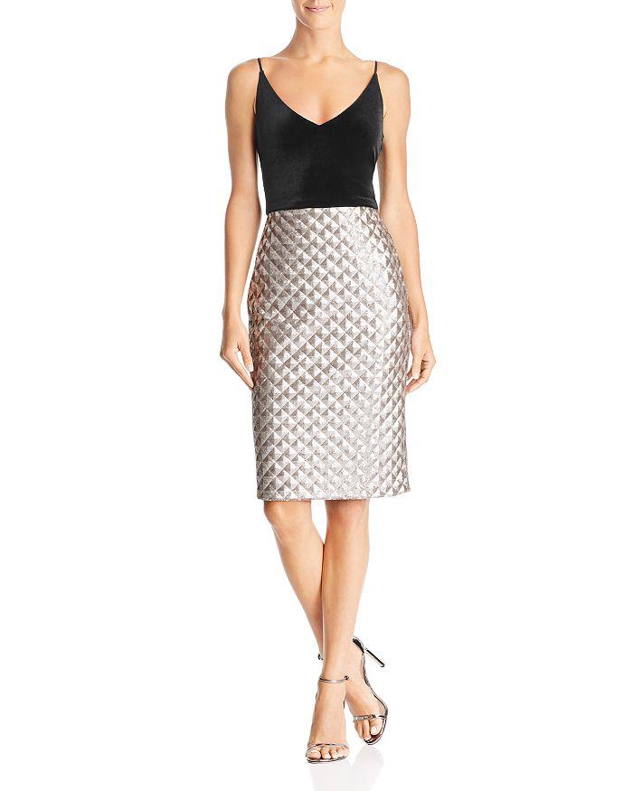 08b12d5d837 Black Halo - Finley Velvet   Sequin Dress