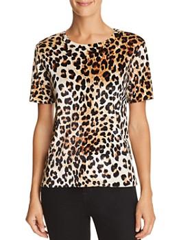 AQUA - Leopard Print Velvet Tee - 100% Exclusive