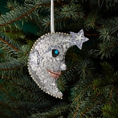 Bloomingdale's Sequin Moon & Star Ornament - 100% Exclusive _0