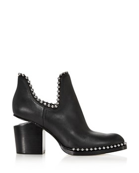 Alexander Wang - Women's Gabi Pointed Toe Studded Leather High-Heel Ankle Boots