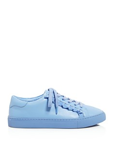 Tory Sport - Women's Ruffle Leather Lace Up Sneakers