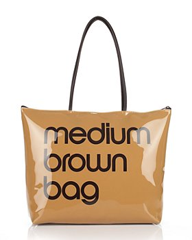 Bloomingdale's - Bloomingdale's Zip Top Medium Brown Bag - 100% Exclusive