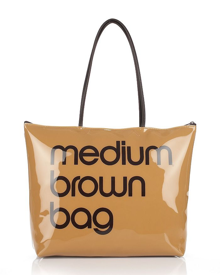 Bloomingdale's - Zip Top Medium Brown Bag - 100% Exclusive