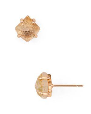 Aurelia Stud Earrings in Rose Gold/Gold