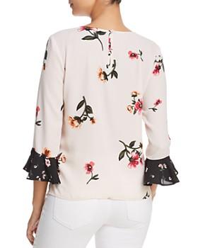 Finn & Grace - Mixed Floral Bell Sleeve Top