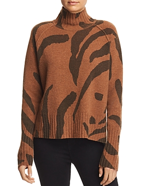 Whistles Zebra Print Wool Sweater