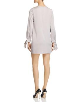 PAULE KA - Tie-Cuff Satin Tunic Dress