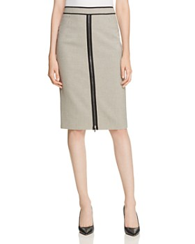 BOSS - Voliviena Check-Print Pencil Skirt