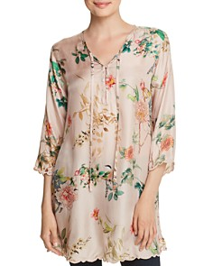 Johnny Was - Delight Floral-Print Silk Top