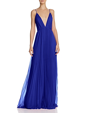 Jill Stuart PLEATED DEEP-V GOWN