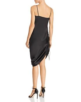 CAMI NYC - Luka Ruched Drawstring Silk Slip Dress