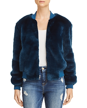 Elizabeth and James Ellington Faux-Fur Bomber Jacket