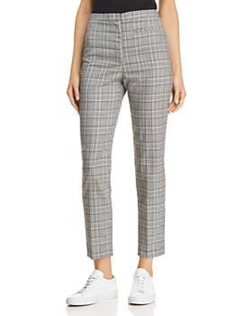 MILLY - Plaid Wool Cropped Pants
