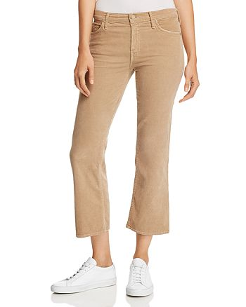 MOTHER - The Outsider Cropped Flared Corduroy Jeans
