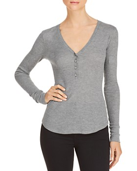 239dab92b1c611 Elizabeth and James - Ester Thermal Henley Top ...