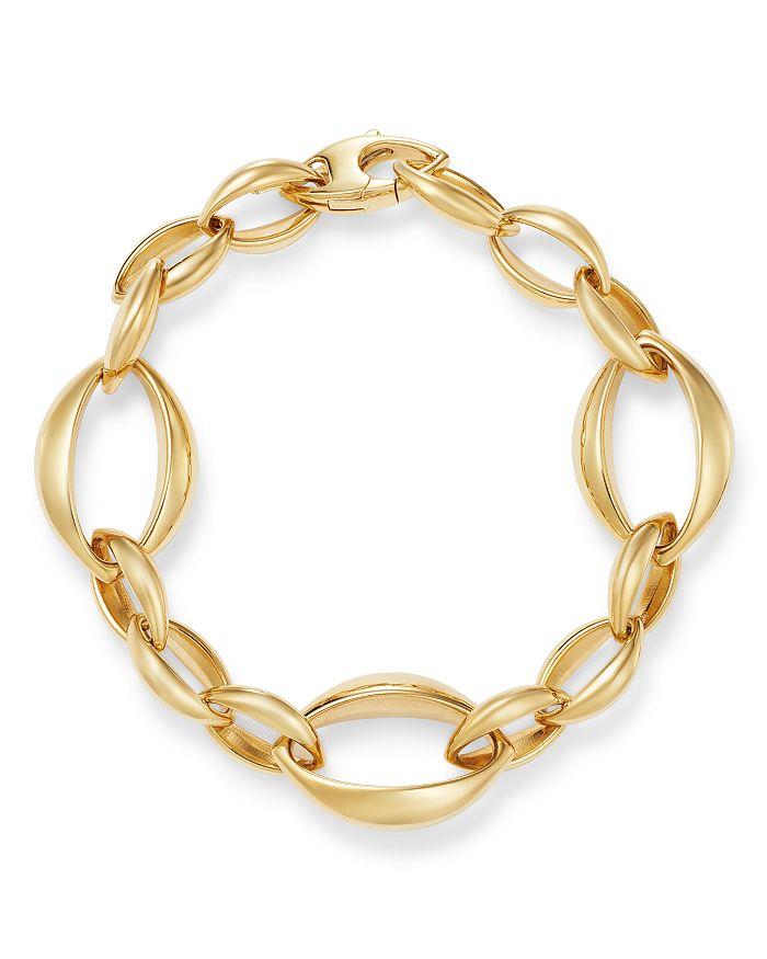 Bloomingdale's - Slim Oval Interlock Bracelet in 14K Yellow Gold - 100% Exclusive