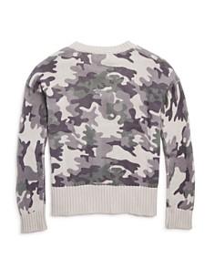 Design History - Girls' Camo-Print Sweater - Big Kid