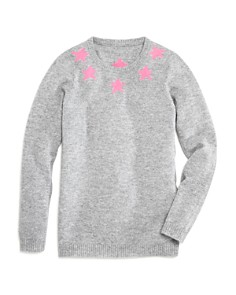 AQUA - Girls' Stars Cashmere Sweater - Big Kid
