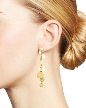 Moon & Meadow - 14K Yellow Gold Gradient Disc Teardrop Dangle Earrings - 100% Exclusive