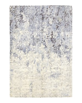 """Solo Rugs - Modern 28 Hand-Knotted Area Rug, 6' 1"""" x 9' 1"""""""
