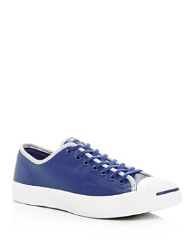 Converse - Men's Jack Purcell Leather Lace Up Sneakers