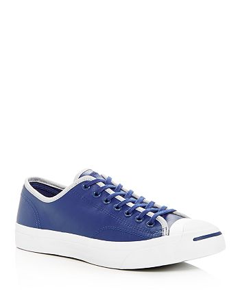 c9877d0ea11dff Converse - Men s Jack Purcell Leather Lace Up Sneakers