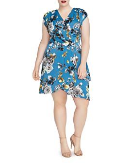Rachel Roy Plus - Plus Pierce Floral Print Faux-Wrap Dress