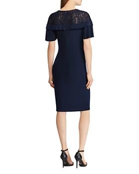 Ralph Lauren - Lace-Inset Ruffled Dress
