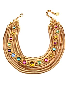 Ben Amun - Multi Crystal Golden Necklace, 24""