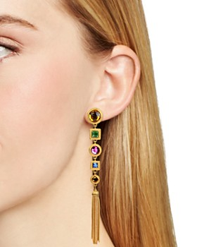 Ben Amun - Multi Color Drop Clip Earrings