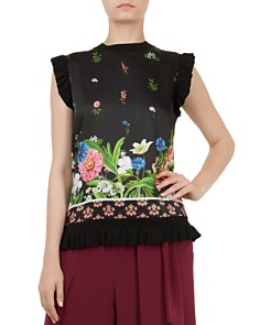 Ted Baker - Myshell Florence Frill-Trim Top