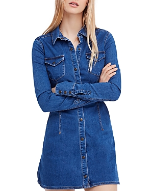 Free People Dynomite in Denim Mini Dress
