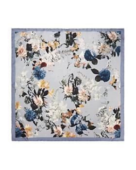 Ted Baker - Romney Dotted Floral-Print Silk Pocket Square
