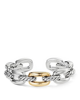 David Yurman - Wellesley Link Single Stack Bracelet in Sterling Silver with 18K Yellow Gold