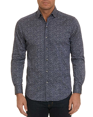 Robert Graham Stadler Scale-Print Regular Fit Shirt - 100% Exclusive