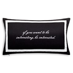 "kate spade new york - Be Interesting Decorative Pillow, 12"" x 20"""