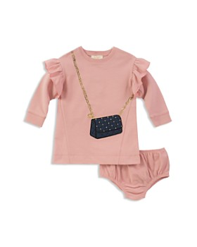 kate spade new york - Girls' French Terry Quilted-Handbag Sweater Dress & Bloomers Set - Baby