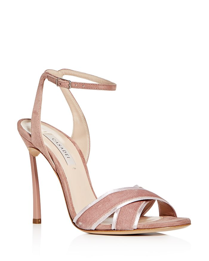 Casadei Women's Yoko Velvet & Suede High-Heel Sandals In Sandstone